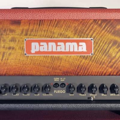 Panama Guitars Fuego 15W Figured Mango Sunburst 2019 Graphite/Scarlet Limited Edition