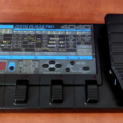 Zoom Pro Player 4040 - MultiFX Pedal - made in Japan - Vintage 80s / 90s
