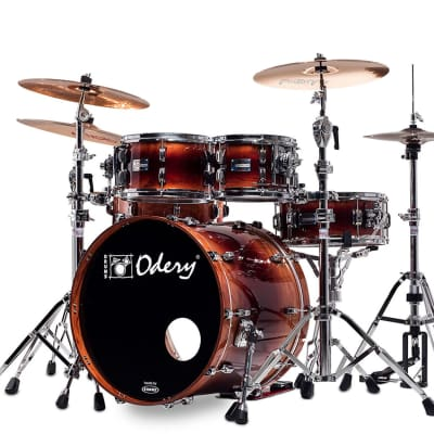 Odery Drum Eyedentity 4-Piece Shell Pack #125 in Sapele Explosion