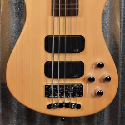 Warwick Rockbass Streamer Standard Natural 5 String Bass & Bag #8218