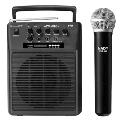 Nady WA-120BT HT Portable Bluetooth Wireless PA System with Handheld Microphone, Rechargeable Battery