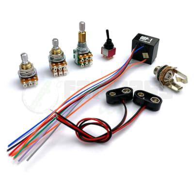 Aguilar OBP-1 Custom Kit for 2 Pickup - 3 Knob & 1 Switch Configuration (V-Bl-T/B-APSW) for sale