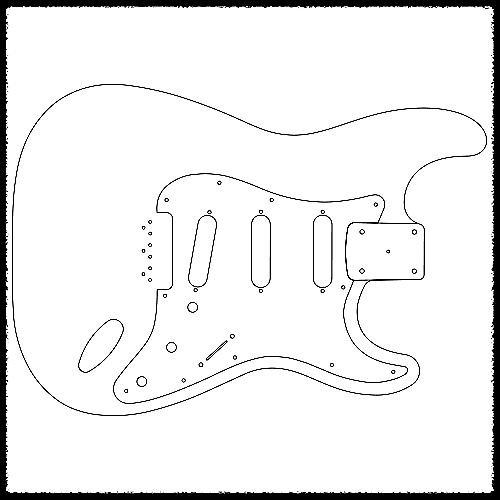 Stratocaster Hardtail Guitar Routing Templates