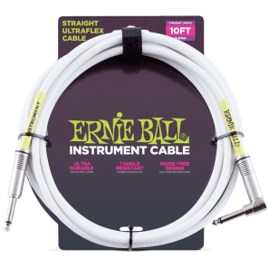 Ernie Ball P06049 Ultraflex Straight 10' Straight to Angled TS Instrument Cable