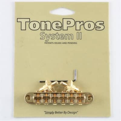 TONEPROS PONTE STANDARD TUNE-O-MATIC SMALL INSERTS GOLD