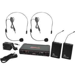 Galaxy Audio EDXR/38SSN Dual Channel Wireless System with Two Headset Microphones - System N