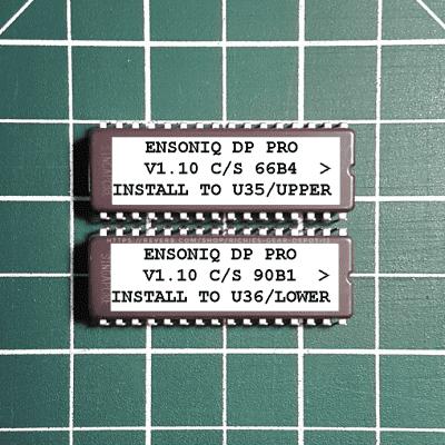 Ensoniq DP Pro OS v1.10 EPROM Firmware Upgrade SET / Brand New Final Update Chips For DP Pro