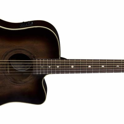 Luna Art Vintage Dreadnought Acoustic/Electric Guitar for sale
