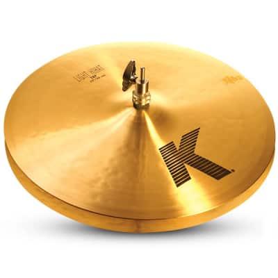 "Zildjian 15"" K Zildjian Light Hihat Pair Drumset Cast Bronze Cymbals with Low Pitch and Dark Sound K0923"