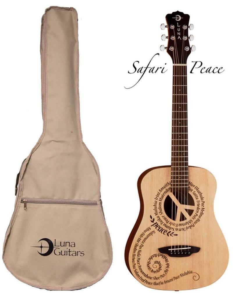 Luna Safari Series Peace Travel Size Dreadnought Acoustic