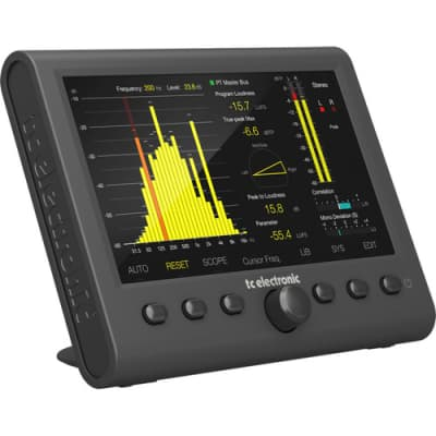 """TC Electronic Stereo 5.1 Audio Loudness Meter w/ 7"""" High Res Display & USB Connection, CLARITY M V2"""