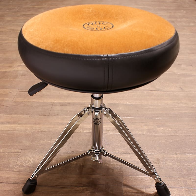 roc n soc drum throne nitro rider tan round seat with reverb. Black Bedroom Furniture Sets. Home Design Ideas