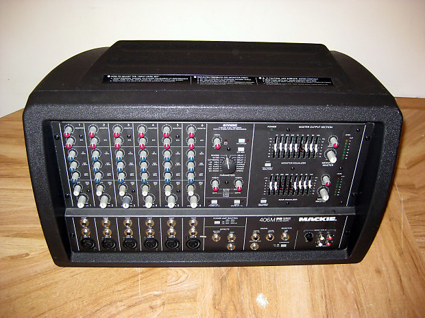mackie 406m fr series 500w 6 channel powered mixer reverb. Black Bedroom Furniture Sets. Home Design Ideas