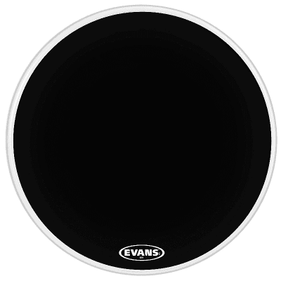 "Evans BD28MX1B MX1 Black Marching Bass Drum Head - 28"""