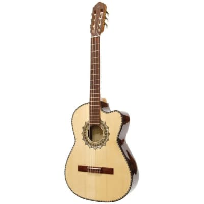 New Paracho Elite EL PASO Nylon String Classical Acoustic Guitar w/ Solid Spruce Top, Natural for sale