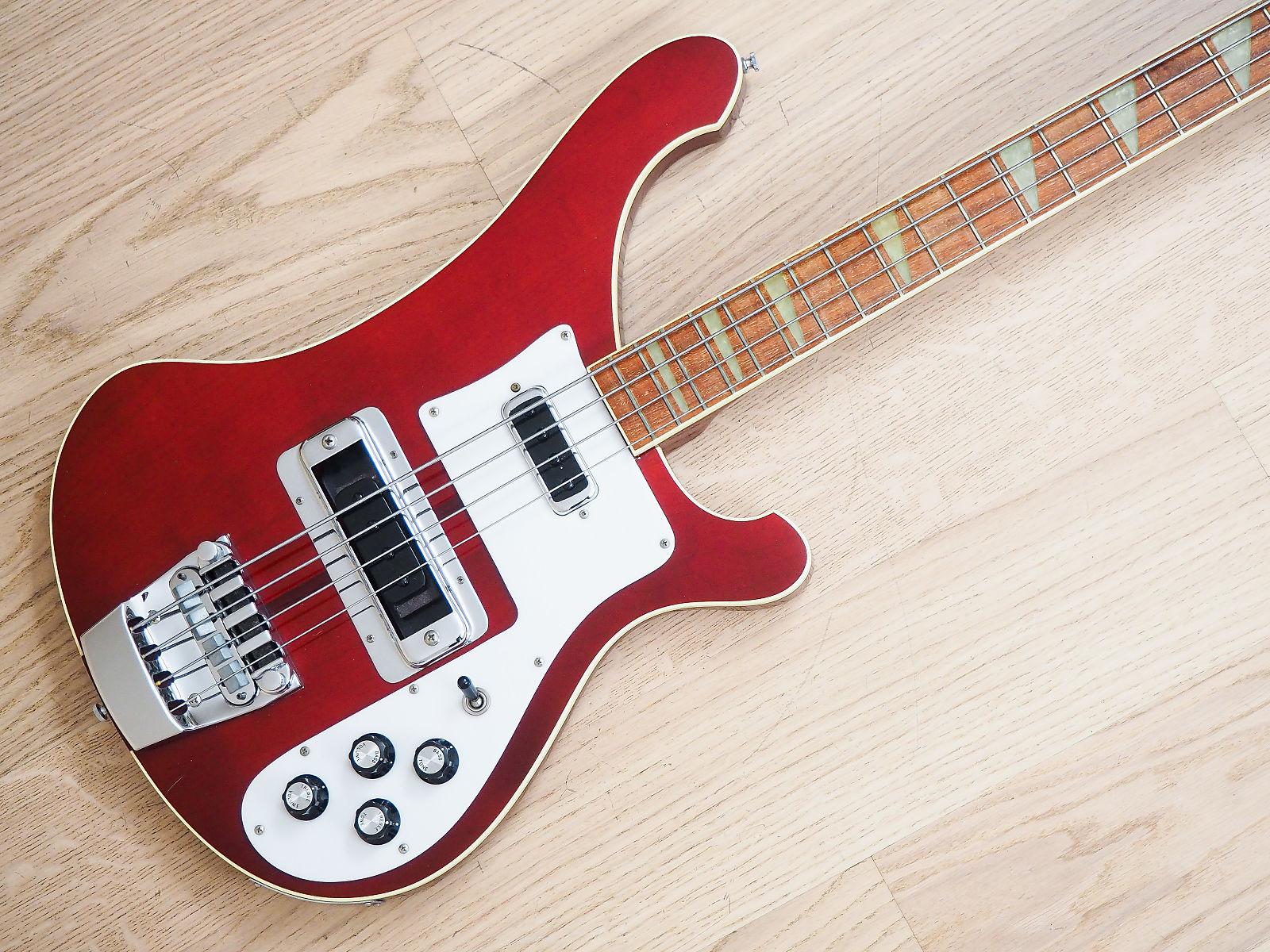 1982 rickenbacker 4001 vintage bass guitar burgundyglo 100 original w hc 4003. Black Bedroom Furniture Sets. Home Design Ideas