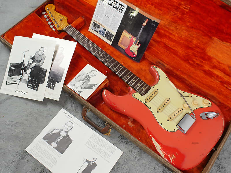 very cool 1961 fender stratocaster fiesta red ohsc reverb. Black Bedroom Furniture Sets. Home Design Ideas
