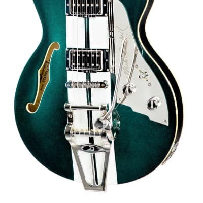 Duesenberg Mike Campbell 40th Anniversary Signature TV -Catalina Green Sparkle Pre Order for sale