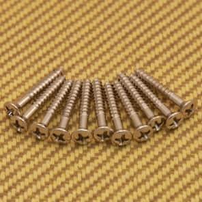 Fender 001-6188-049 (12) Genuine Fender Phillips Nickel Strap Buttons or Bridge Screws