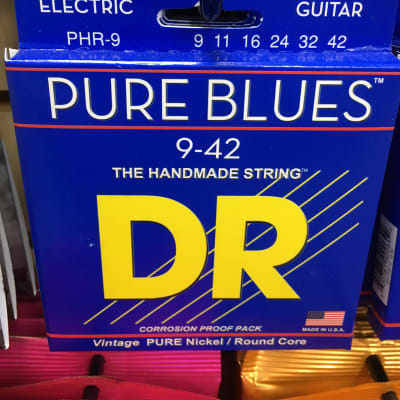 DR PHR-9 Pure Blues Lite Electric Guitar Strings (9-42)