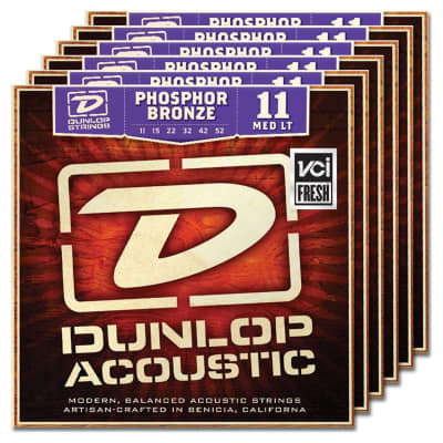 Dunlop DAP1152 Phosphor Bronze Acoustic String Bundle - 11-52