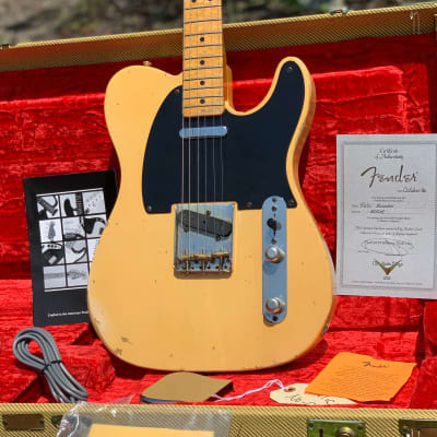 Fender Cunetto '51 Nocaster Custom Shop Relic 1996 Butterscotch Blonde Telecaster for sale