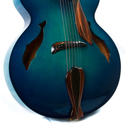 Washburn Blue Dolphin Yuriy Shishkov Masterpiece Archtop Acoustic Guitar for sale