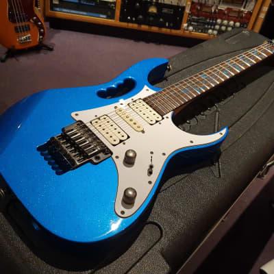 RARE Ibanez Jem7V SBL JEM7VSBL Sparkle Blue JEM 7V Vine Guitar! Steve Vai J Custom Prestige Quality!