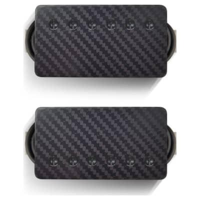 Bare Knuckle Pickups Ragnarok Humbucker Set Carbon Fiber w/ Black Screws 50mm