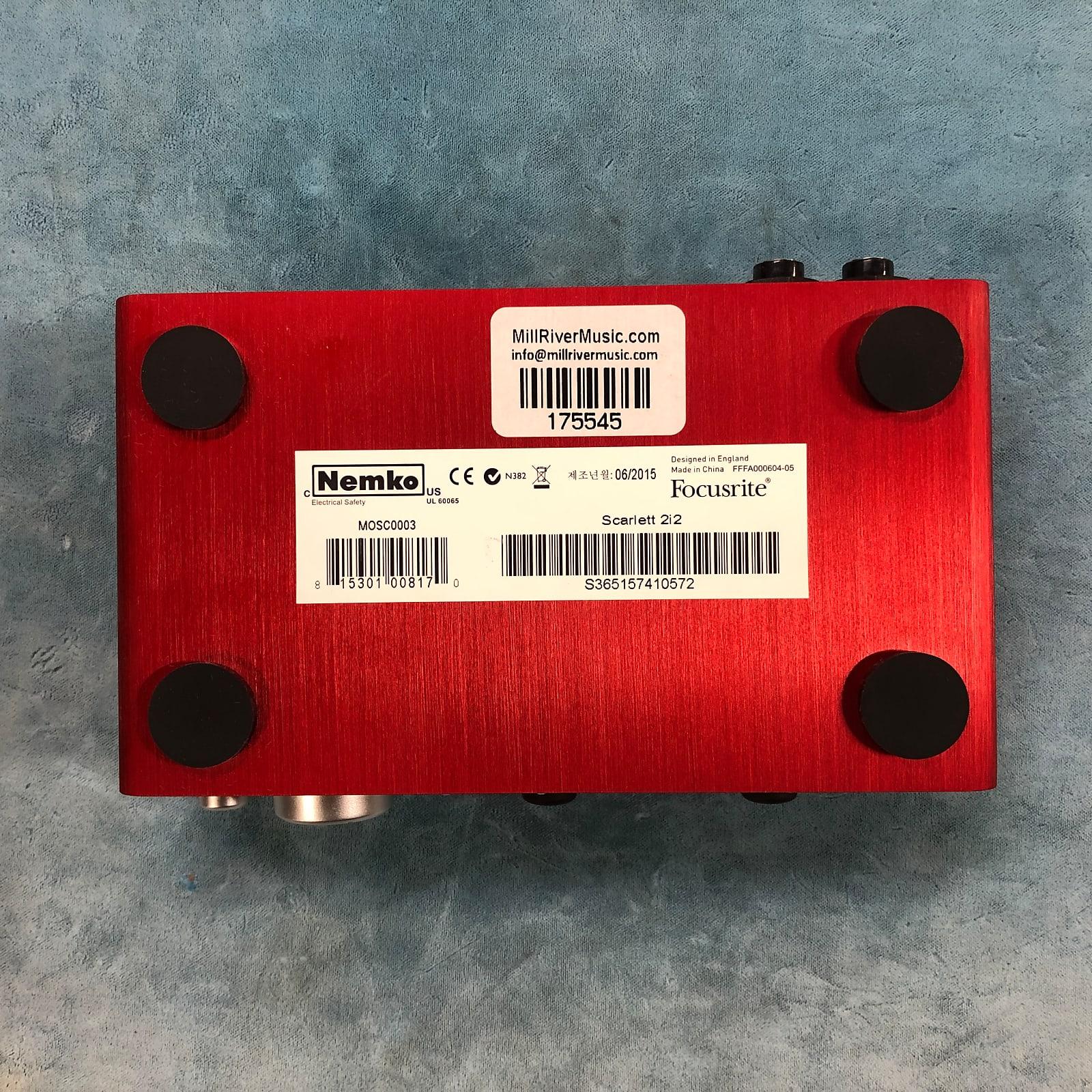 Focusrite Scarlett 2i2 USB Audio Recording Interface (1st Gen) w/ USB Cable