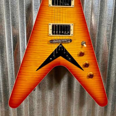 Hamer Vector Mahogany Flying V Cherry Sunburst Electric Guitar & Bag #0453 for sale