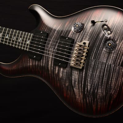NEW Paul Reed Smith Wood Library Custom 24-08 Satin in Brian's Limited Charcoal Tri Color Burst! for sale