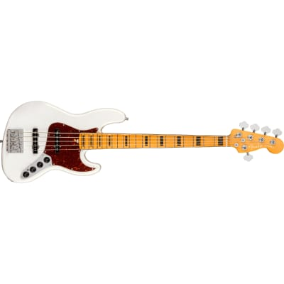 Fender American Ultra Jazz Bass V - Maple, Arctic Pearl for sale