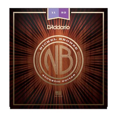 Daddario 11-52 Nickel Bronze Acoustic Set - Custom Light