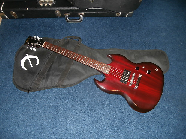 used 1998 gibson sg 1 sg x electric guitar w epiphone gig reverb. Black Bedroom Furniture Sets. Home Design Ideas