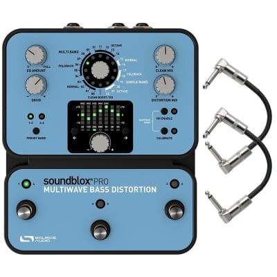 Source Audio SA141 Soundblox Pro Multiwave Bass Distortion Guitar Pedal & Cables