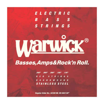 Warwick Cuerdas Bajo 5 Red Label 40-130