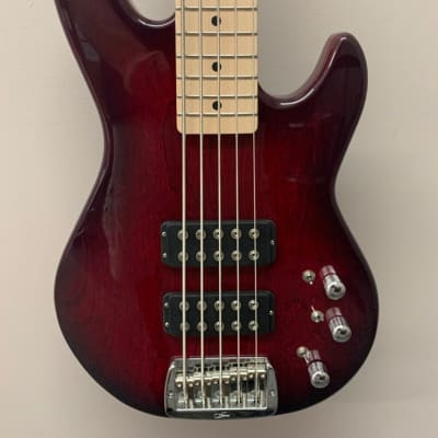 G&L Tribute Series L-2500 5-String Bass with Maple Fretboard Redburst for sale
