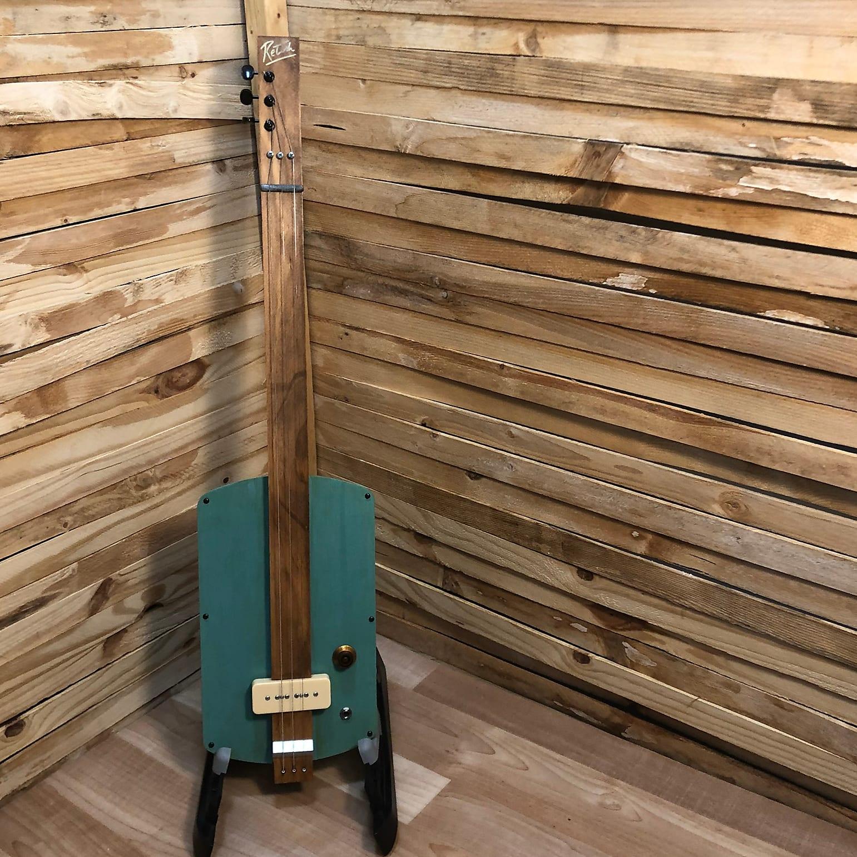 Retish 3 string  Slide Electric Guitar antique blue