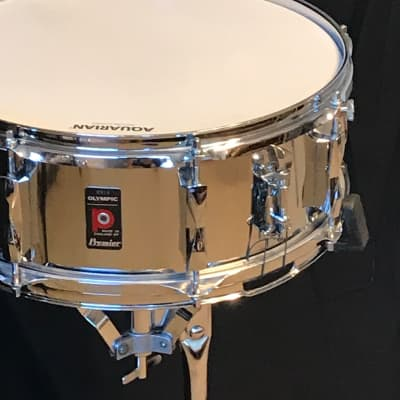 "Premier Olympic Snare Drum  1970's Snare Drum 5.5"" x 14"" Chrome over Steel"