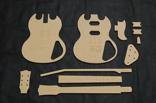 SG Guitar Router Template Set MDF CNC Luthier Reverb - Guitar routing templates