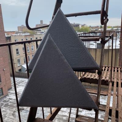 Crown Stuy Acoustics Tiara Triangular Corner Bass Trap w/ MLV diaphragm - Pair, Bluish Grey
