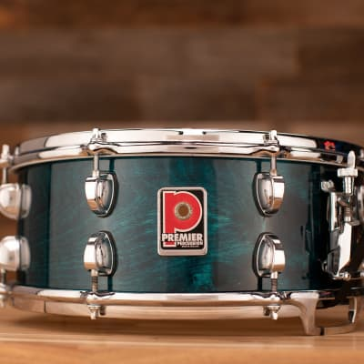 PREMIER 14 X 5.5 VITRIA SNARE DRUM, TURQUOISE LACQUER, DIE CAST HOOPS (PRE-LOVED)
