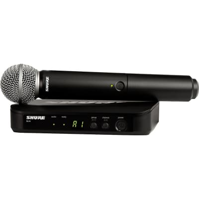 Shure BLX24/SM58 Handheld Wireless System with SM58 Capsule Regular Band H9