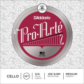 D'Addario J59 3/4M Pro-Arte 3/4 Cello Strings - Medium