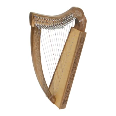 Roosebeck Pixie Harp 19-String Non-Standing - Walnut