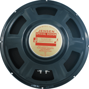 "Jensen C15N Vintage Ceramic 15"" 50-Watt 8ohm Guitar / Bass Speaker"