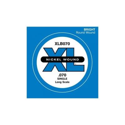 D'Addario Nickel Wound Single Bass String XLB070