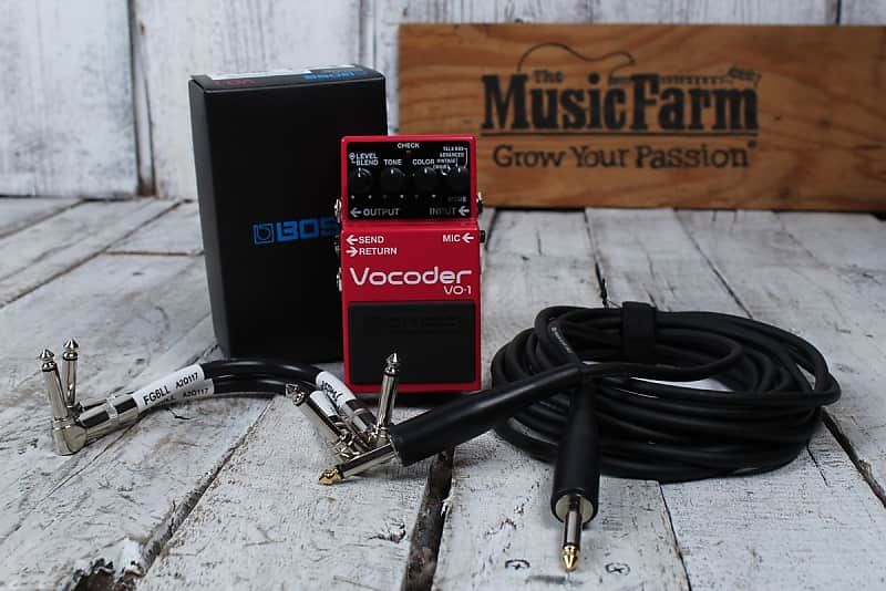 Boss VO-1 Vocoder Electric Guitar and Bass Guitar Effects Pedal with FREE Cables image