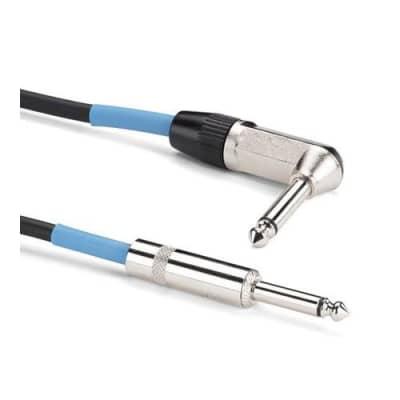 Samson TIL20 20' Tourtek Instrument Cable with 1 Right Angle Connector
